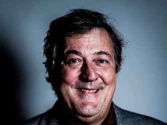 Stephen Fry at the Oxford Union, Oxford, Britain - 05 Nov 2014